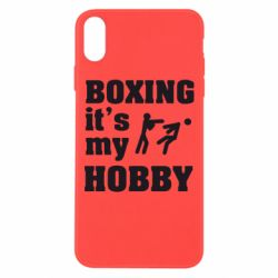 Чехол для iPhone Xs Max Boxing is my hobby - FatLine