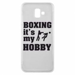 Чехол для Samsung J6 Plus 2018 Boxing is my hobby - FatLine