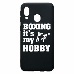 Чохол для Samsung A40 Boxing is my hobby