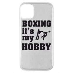 Чехол для iPhone 11 Pro Boxing is my hobby