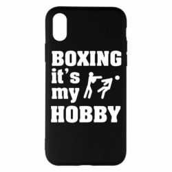 Чехол для iPhone X Boxing is my hobby - FatLine