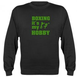 Реглан (свитшот) Boxing is my hobby - FatLine