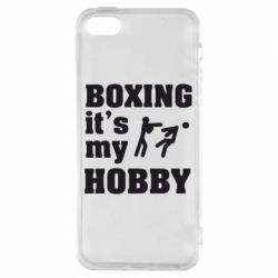 Чехол для iPhone5/5S/SE Boxing is my hobby - FatLine