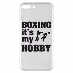 Чехол для iPhone 7 Plus Boxing is my hobby - FatLine