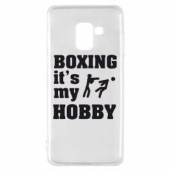 Чехол для Samsung A8 2018 Boxing is my hobby - FatLine