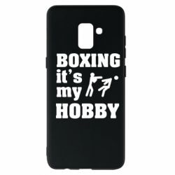 Чехол для Samsung A8+ 2018 Boxing is my hobby - FatLine