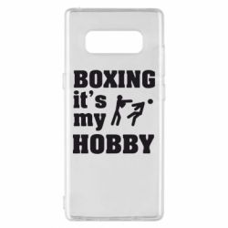 Чехол для Samsung Note 8 Boxing is my hobby - FatLine