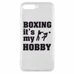 Чехол для Huawei Y6 2018 Boxing is my hobby - FatLine