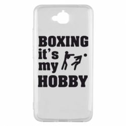 Чехол для Huawei Y6 Pro Boxing is my hobby - FatLine