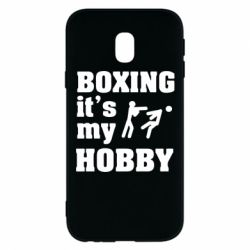 Чехол для Samsung J3 2017 Boxing is my hobby - FatLine