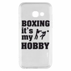 Чехол для Samsung A3 2017 Boxing is my hobby - FatLine