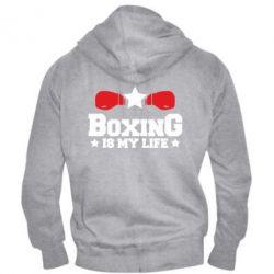 Мужская толстовка на молнии Boxing is my life