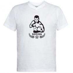 Мужская футболка  с V-образным вырезом Boxing Star - FatLine