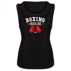 Женская майка Boxing Ukraine - FatLine