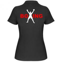 Женская футболка поло BoXing X - FatLine