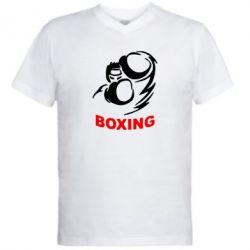 Мужская футболка  с V-образным вырезом Boxing - FatLine