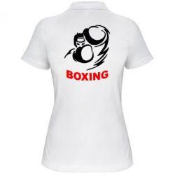 Женская футболка поло Boxing - FatLine