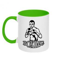 Кружка двухцветная Boxing