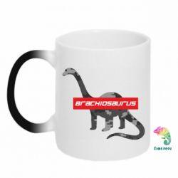 Кружка-хамелеон Brachiosaurus
