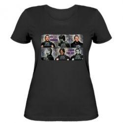 Женская футболка Братья Винчестеры в полиции