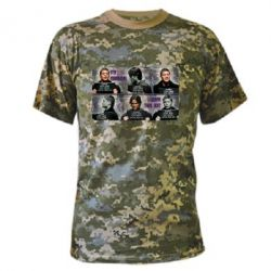 Камуфляжная футболка Братья Винчестеры в полиции - FatLine