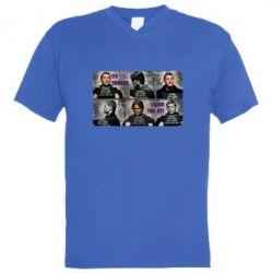 Мужская футболка  с V-образным вырезом Братья Винчестеры в полиции - FatLine