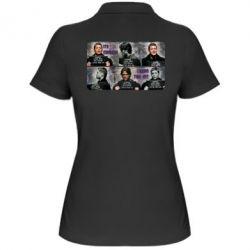 Женская футболка поло Братья Винчестеры в полиции - FatLine