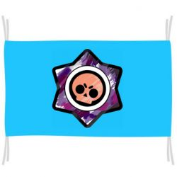 Флаг Brawl logo purple
