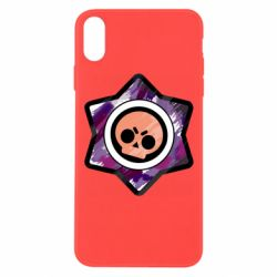 Чехол для iPhone Xs Max Brawl logo purple