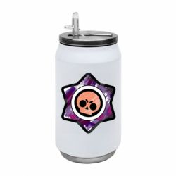 Термобанка 350ml Brawl logo purple