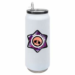 Термобанка 500ml Brawl logo purple