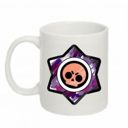 Кружка 320ml Brawl logo purple