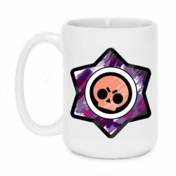Кружка 420ml Brawl logo purple