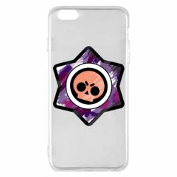 Чехол для iPhone 6 Plus/6S Plus Brawl logo purple