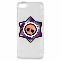 Чехол для iPhone5/5S/SE Brawl logo purple