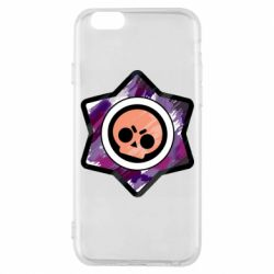 Чехол для iPhone 6/6S Brawl logo purple