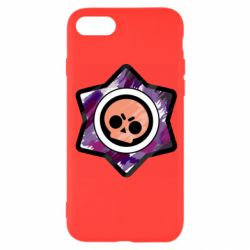 Чехол для iPhone 8 Brawl logo purple