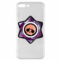 Чехол для iPhone 8 Plus Brawl logo purple