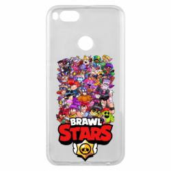 Чехол для Xiaomi Mi A1 Brawl Stars all characters art