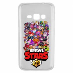 Чехол для Samsung J1 2016 Brawl Stars all characters art