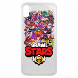 Чехол для iPhone Xs Max Brawl Stars all characters art