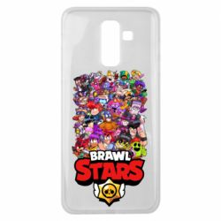 Чехол для Samsung J8 2018 Brawl Stars all characters art