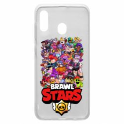 Чехол для Samsung A20 Brawl Stars all characters art