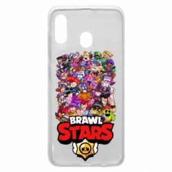 Чехол для Samsung A30 Brawl Stars all characters art