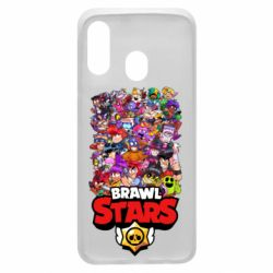 Чехол для Samsung A40 Brawl Stars all characters art