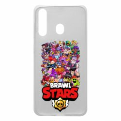 Чехол для Samsung A60 Brawl Stars all characters art