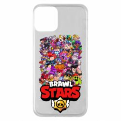 Чехол для iPhone 11 Brawl Stars all characters art