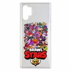 Чехол для Samsung Note 10 Plus Brawl Stars all characters art