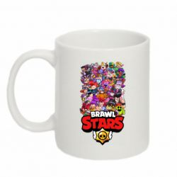 Кружка 320ml Brawl Stars all characters art