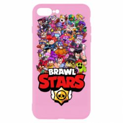 Чехол для iPhone 7 Plus Brawl Stars all characters art